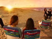 sunset at virginia beach