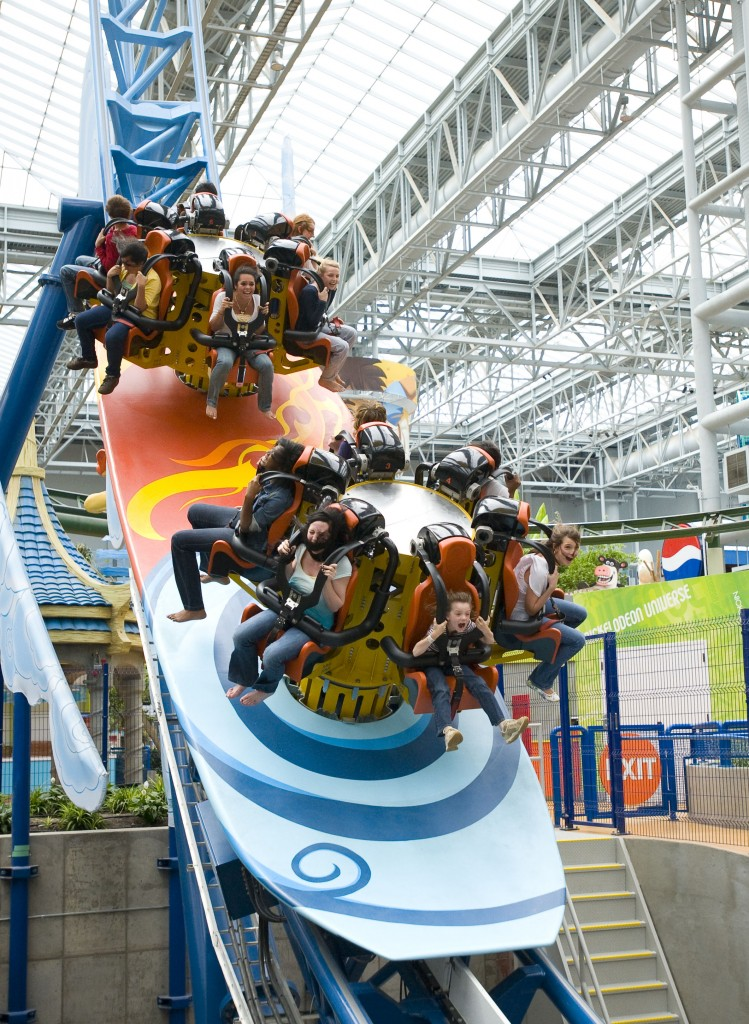 You don't have to wait for summer to enjoy the amenities of an amusement park. Find rides, games and food at the indoor amusement park of Nickelodeon Universe.