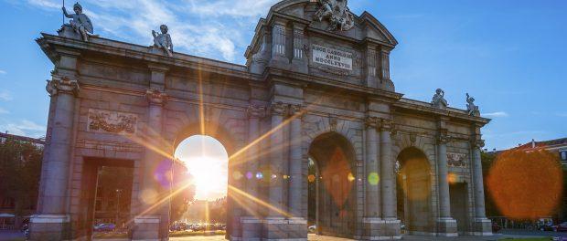 Puerta de Alcala located at Madrid
