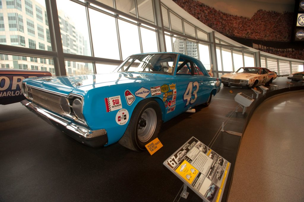 NASCAR Hall of Fame Car Inside