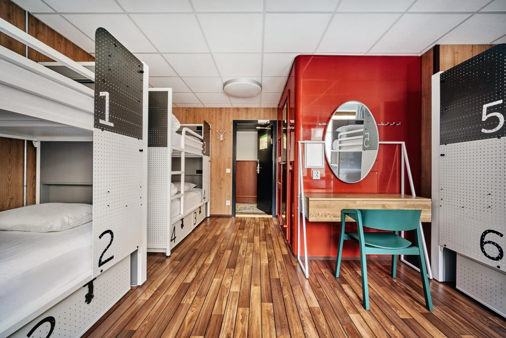 Shared rooms at the Generator Hostel, Stockholm