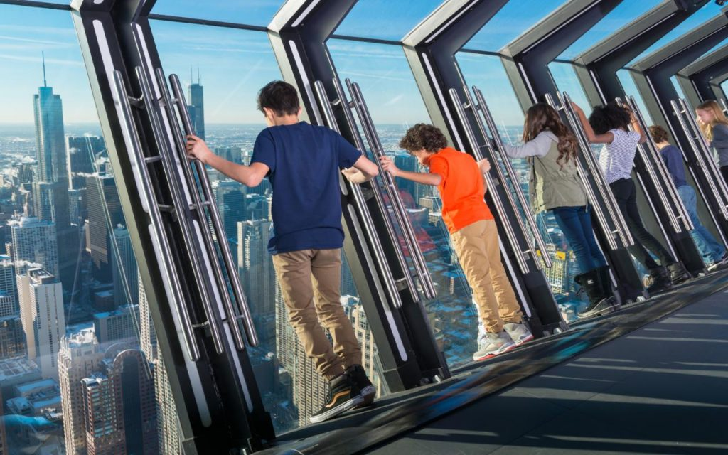 View the Magnificent Mile and Lake Michigan from atop 360 Chicago.