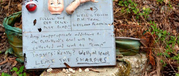 Doll's Head Trail. credit http://www.wanderlustatlanta.com/2016/04/touring-dolls-head-trail.html