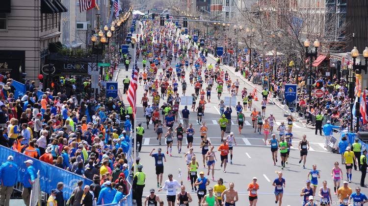Crowds at events like the Boston Marathon can make touring difficult.