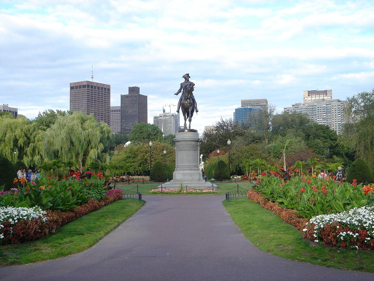 Boston's Public Garden.
