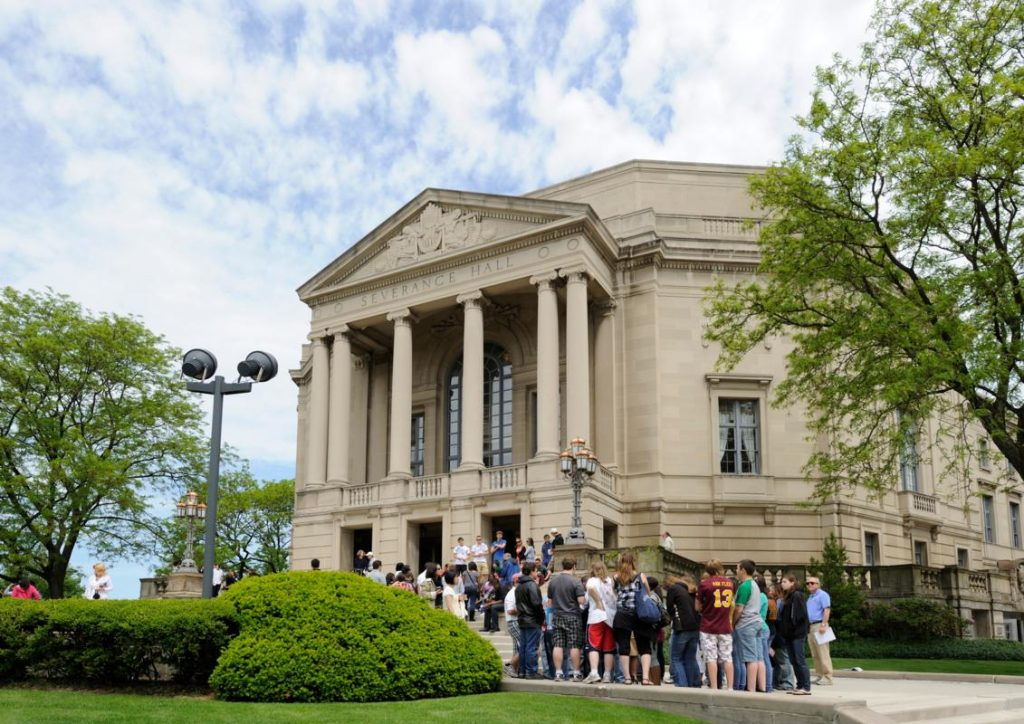 Severance Hall Exterior with Group (c) ThisisCleveland.com