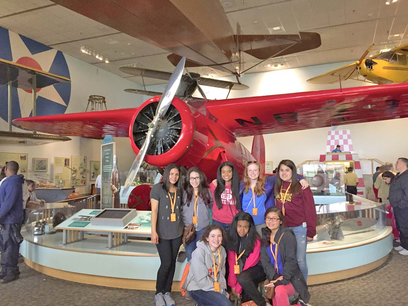 DC - Girls at Air Space Museum