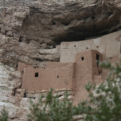 Montezuma Castle With Creosote