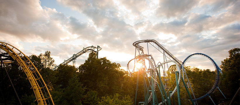 Rollercoasters at Busch Gardens Williamsburg