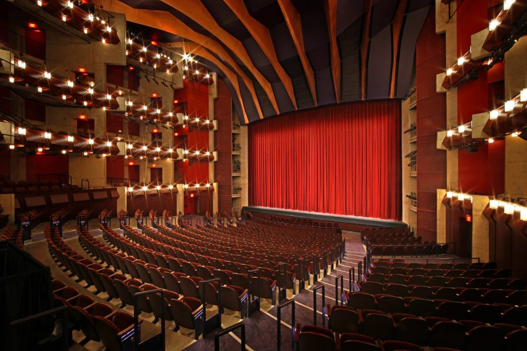 The inside of Merchant Hall Theater for the Hylton Performing Arts Center