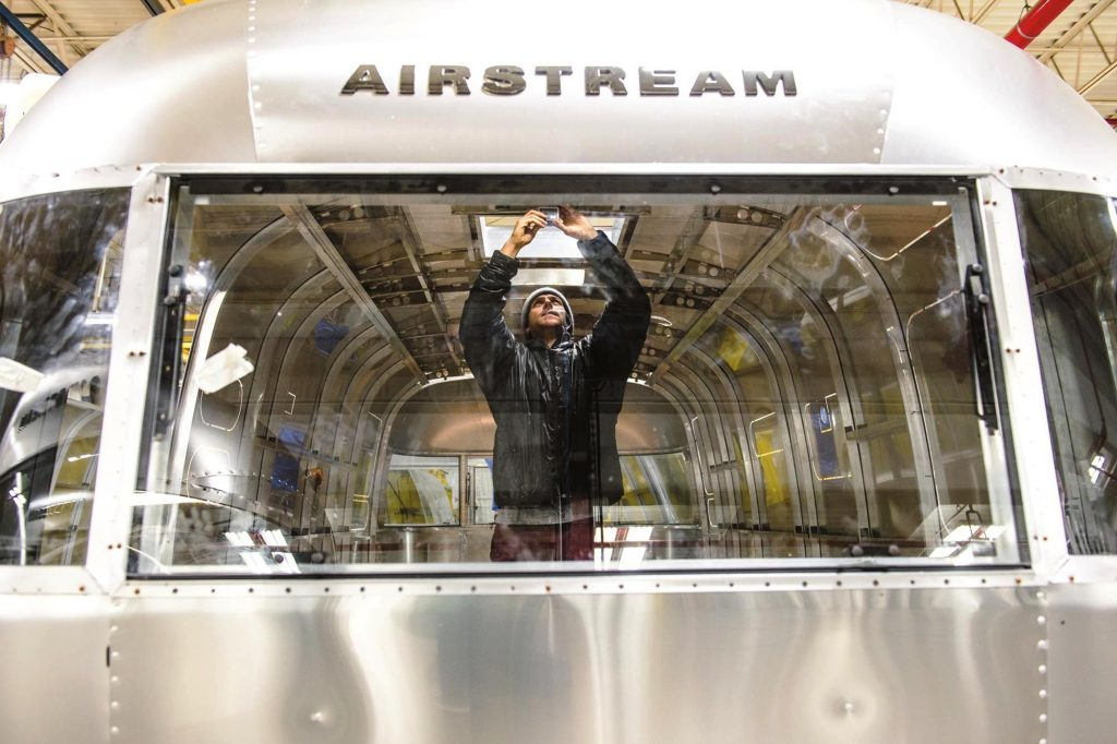 Airstream Factory Tour; Credit Airstream